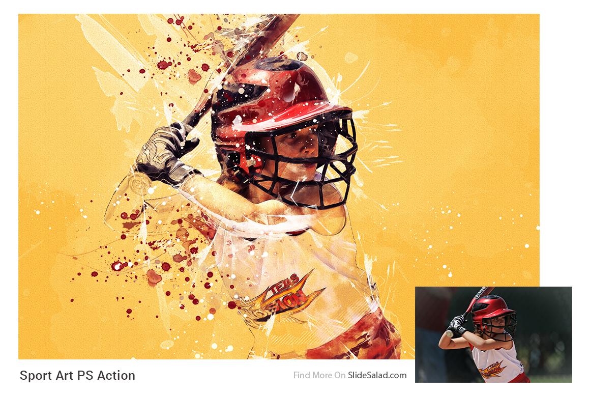Sports Modern Art Photoshop Action example image 4