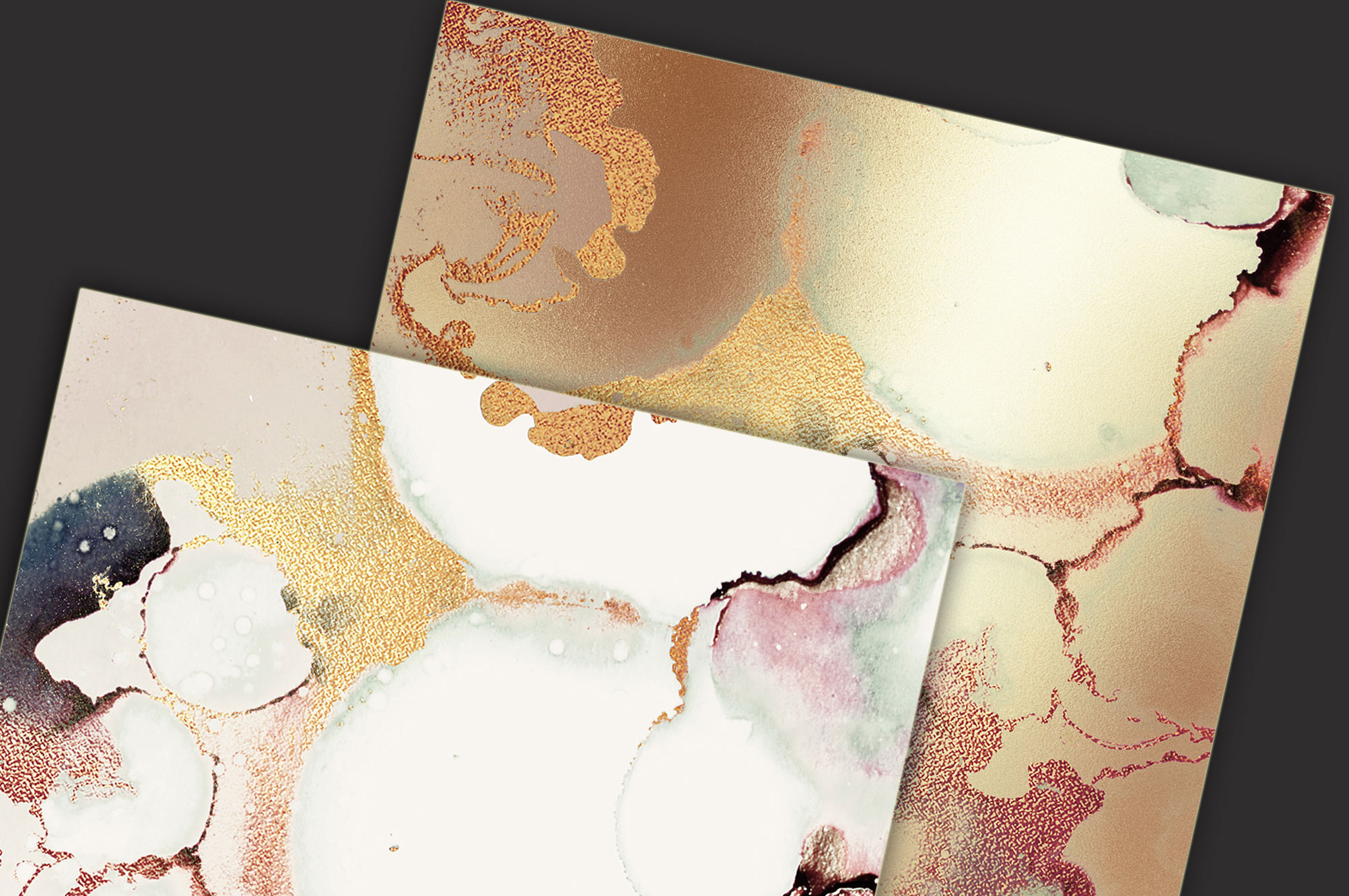 Gold Watercolor and Foil Textures BUNDLE example image 6