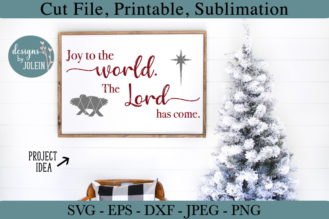 Joy to the world SVG, png, eps, DXF, sublimation example image 2
