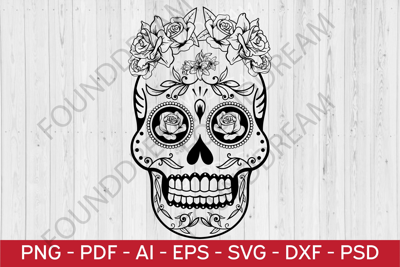 Sugar Skull SVG cut file example image 1