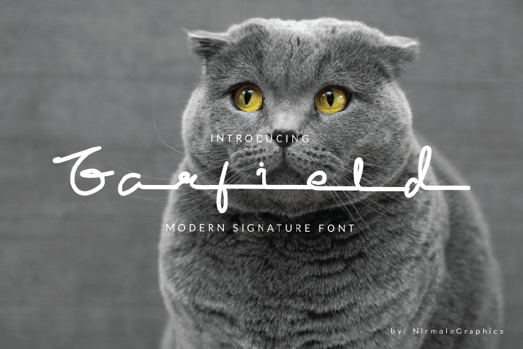 Garfield Modern Signature example image 1