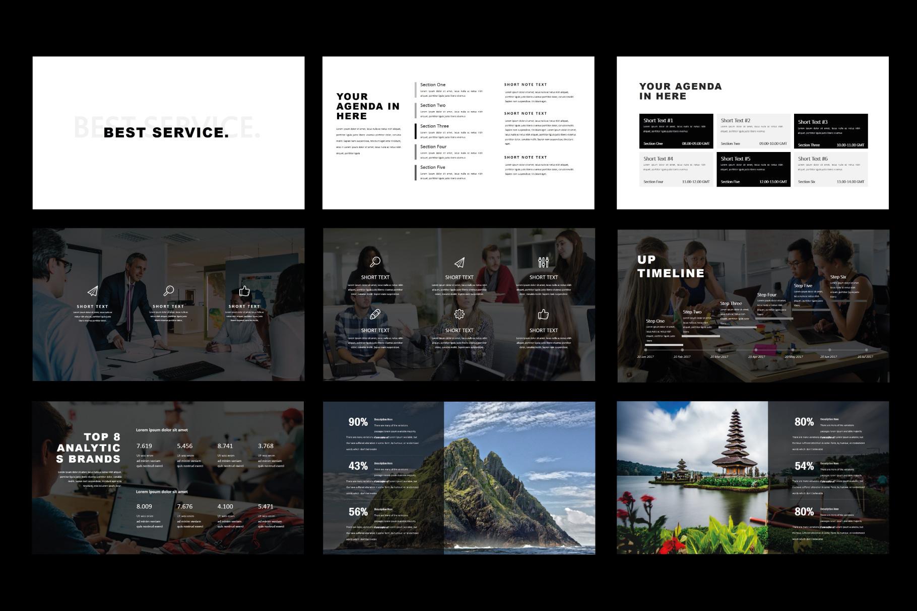 Tuxedo Minimal PowerPoint Templates example image 5