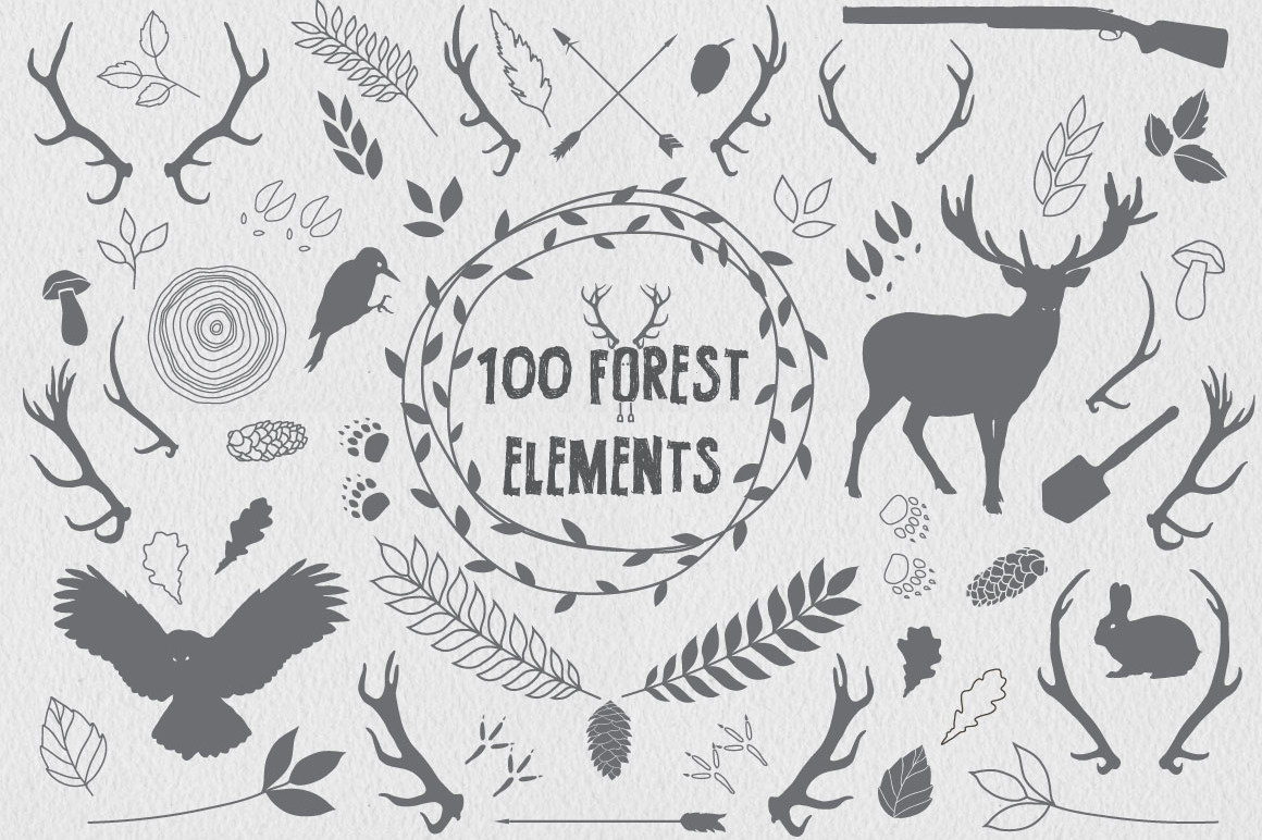 100 Forest Elements example image 1
