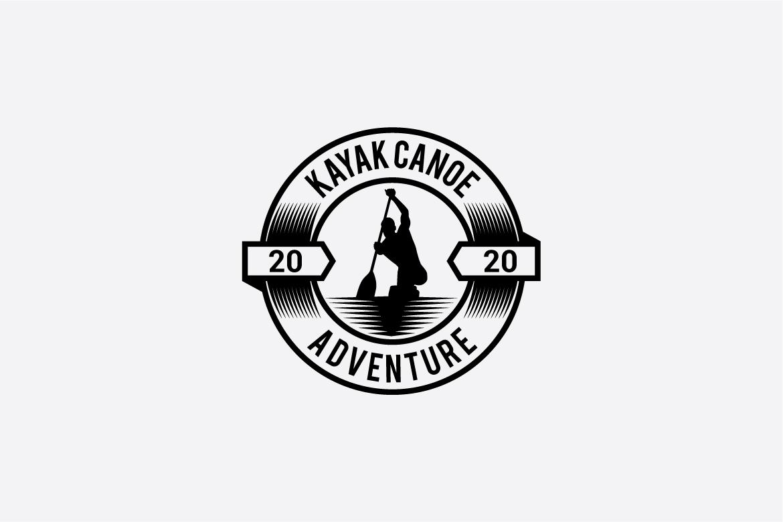 kayak canoe logo example image 2