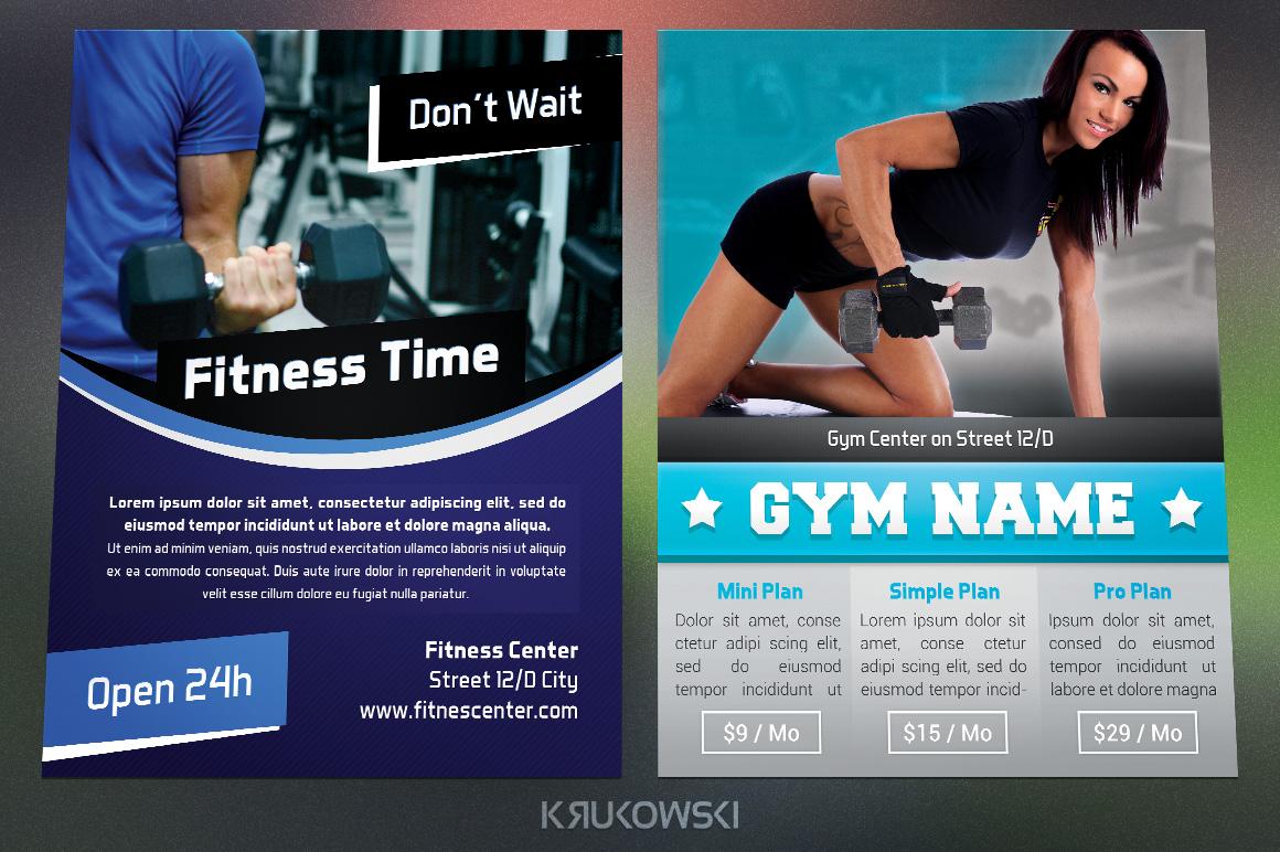 Gym Fitness Flyers Bundle example image 3
