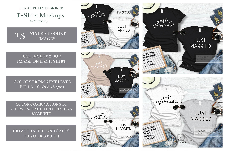 Adult T-Shirt/ T-Shirt Mock-up, Bella Canvas T-Shirts/ example image 1