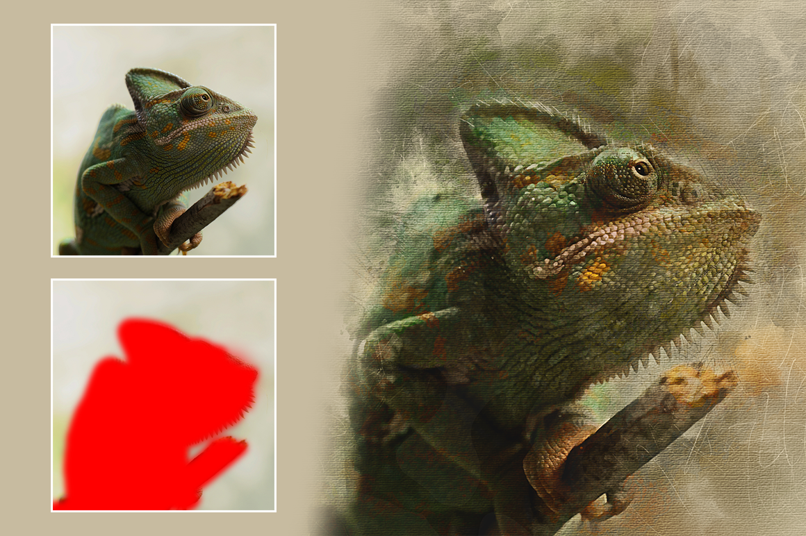 Watercolor Photoshop Action example image 3