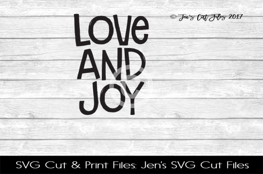 Love And Joy SVG Cut FIle example image 1