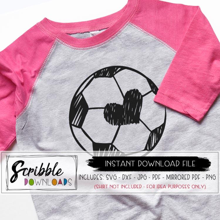 Girl Soccer Ball SVG example image 1 75c042737