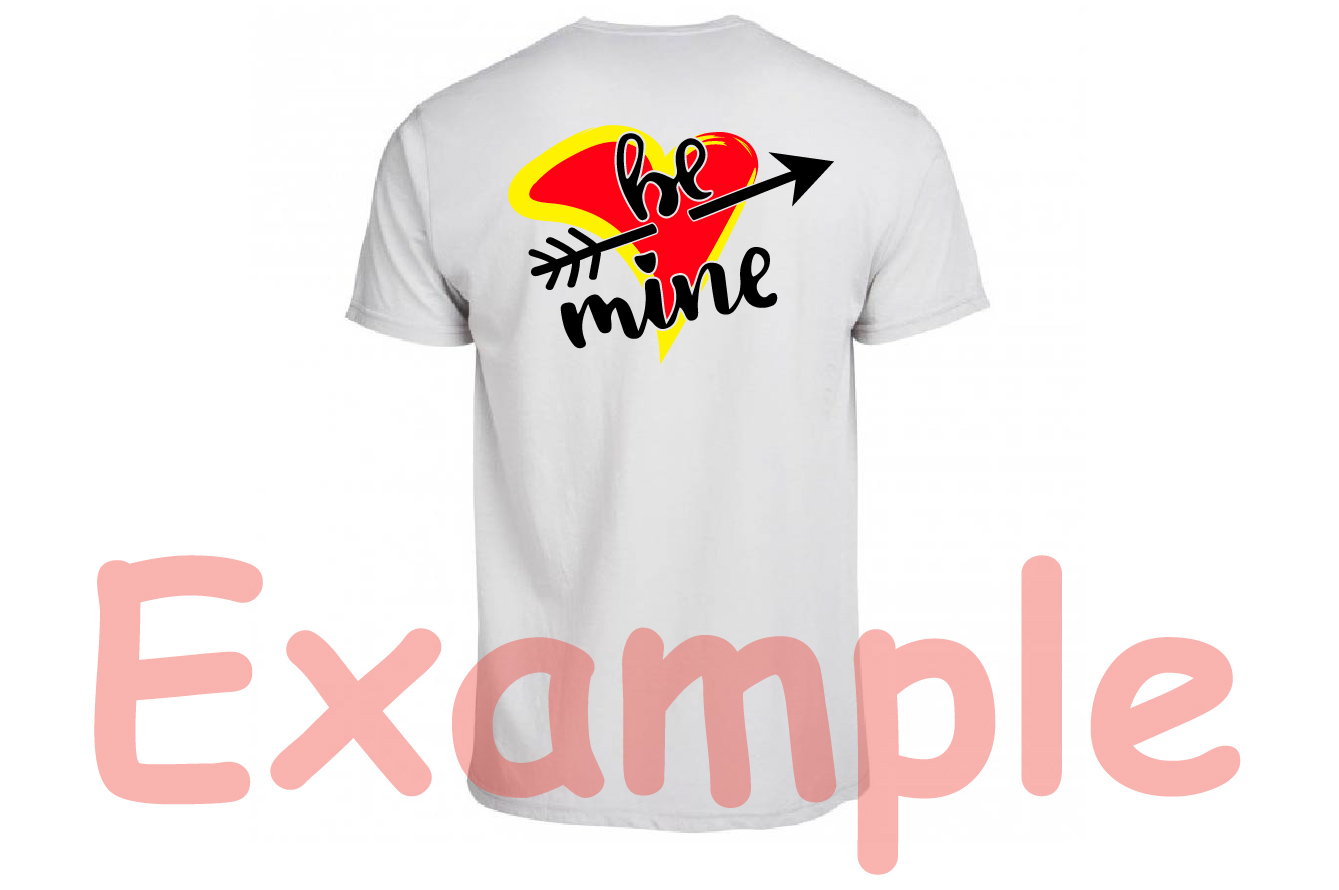 Be mine SVG love heart Valentines Day Arrow -70sv example image 4