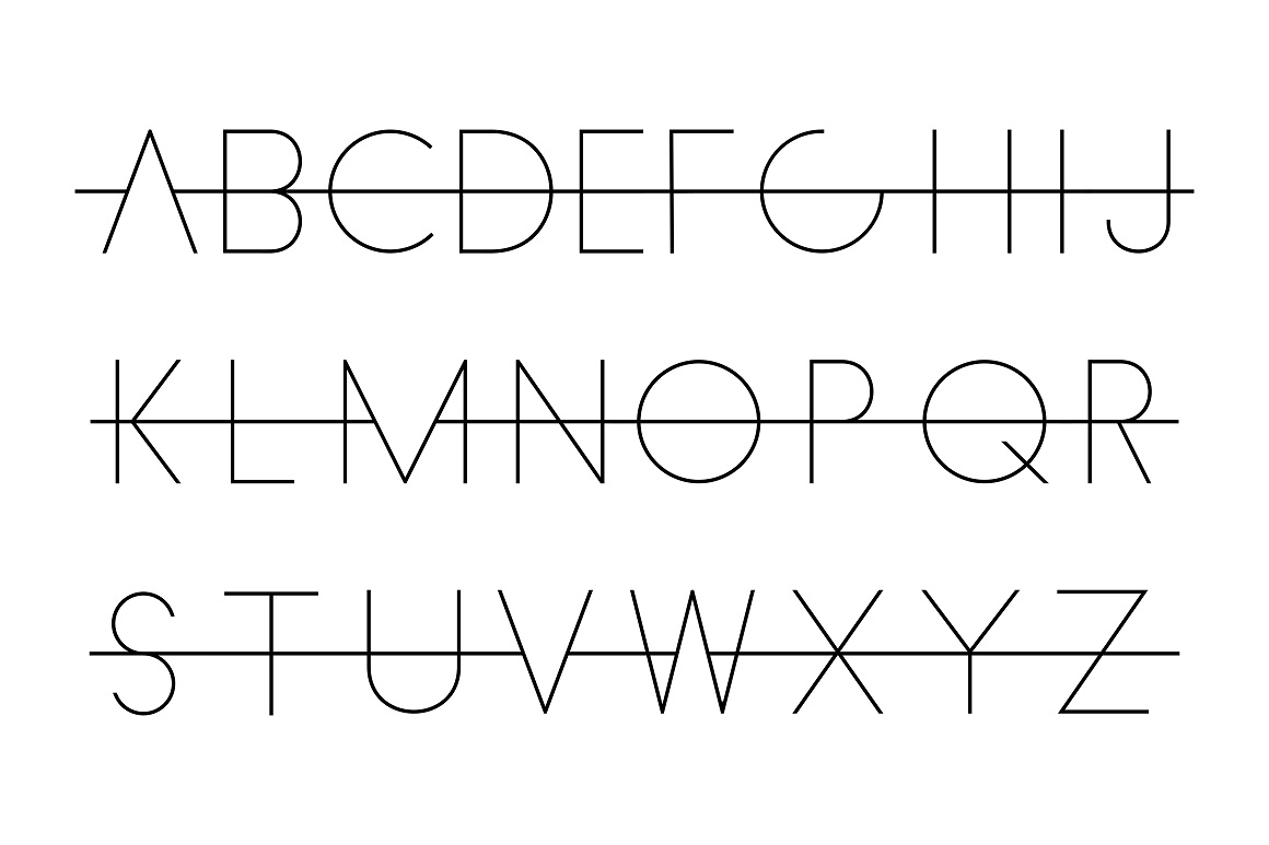 Crossed over font - alphabet set. example image 5