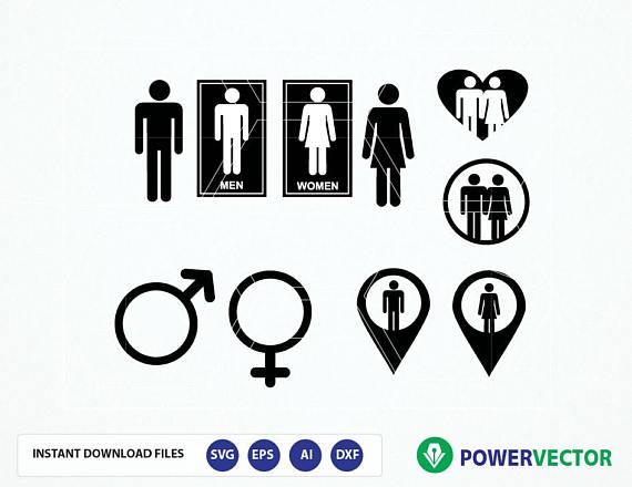 Gender Signs Svg Male Female Symbol Sv Design Bundles