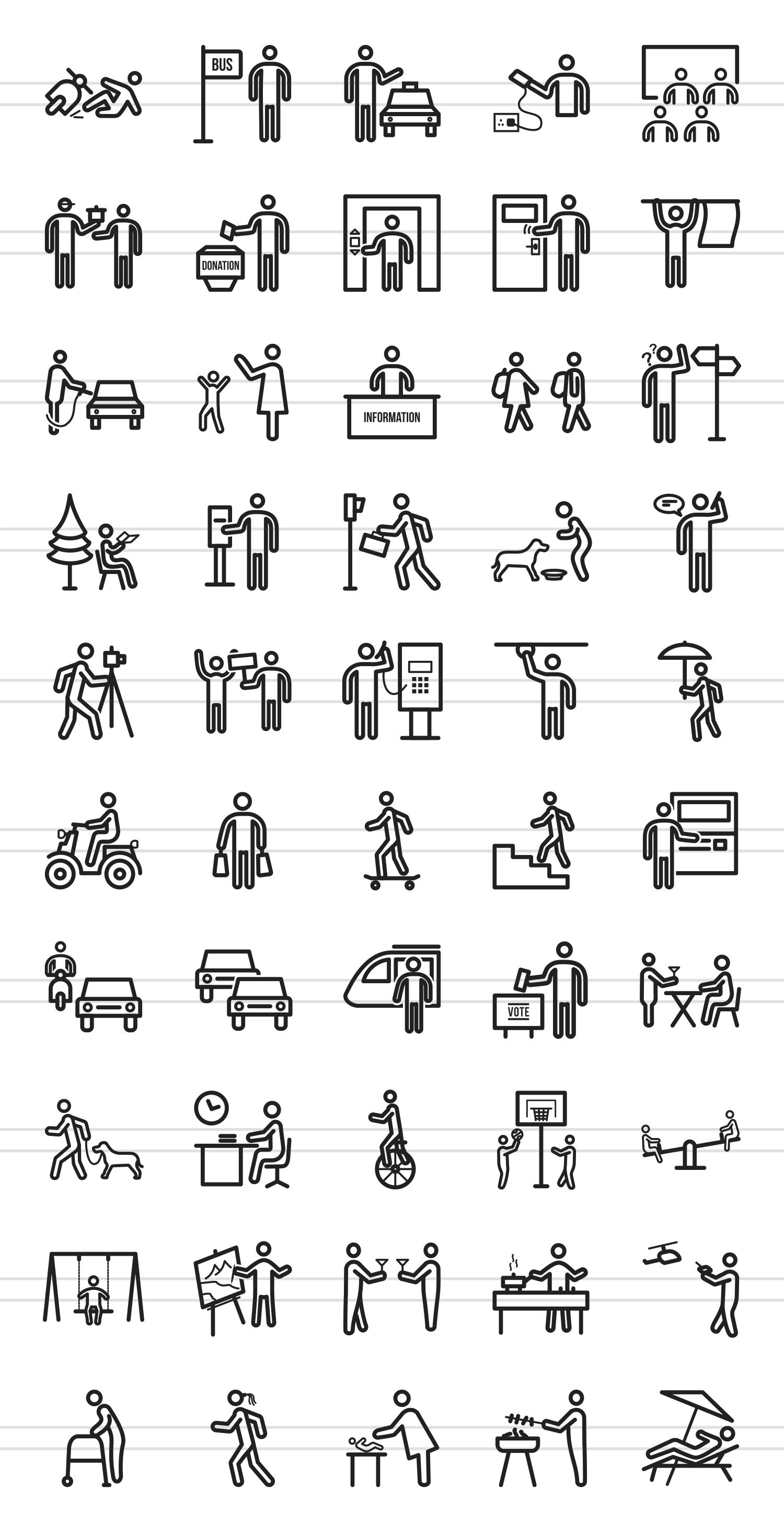 50 City Lifestyle Line Icons example image 2