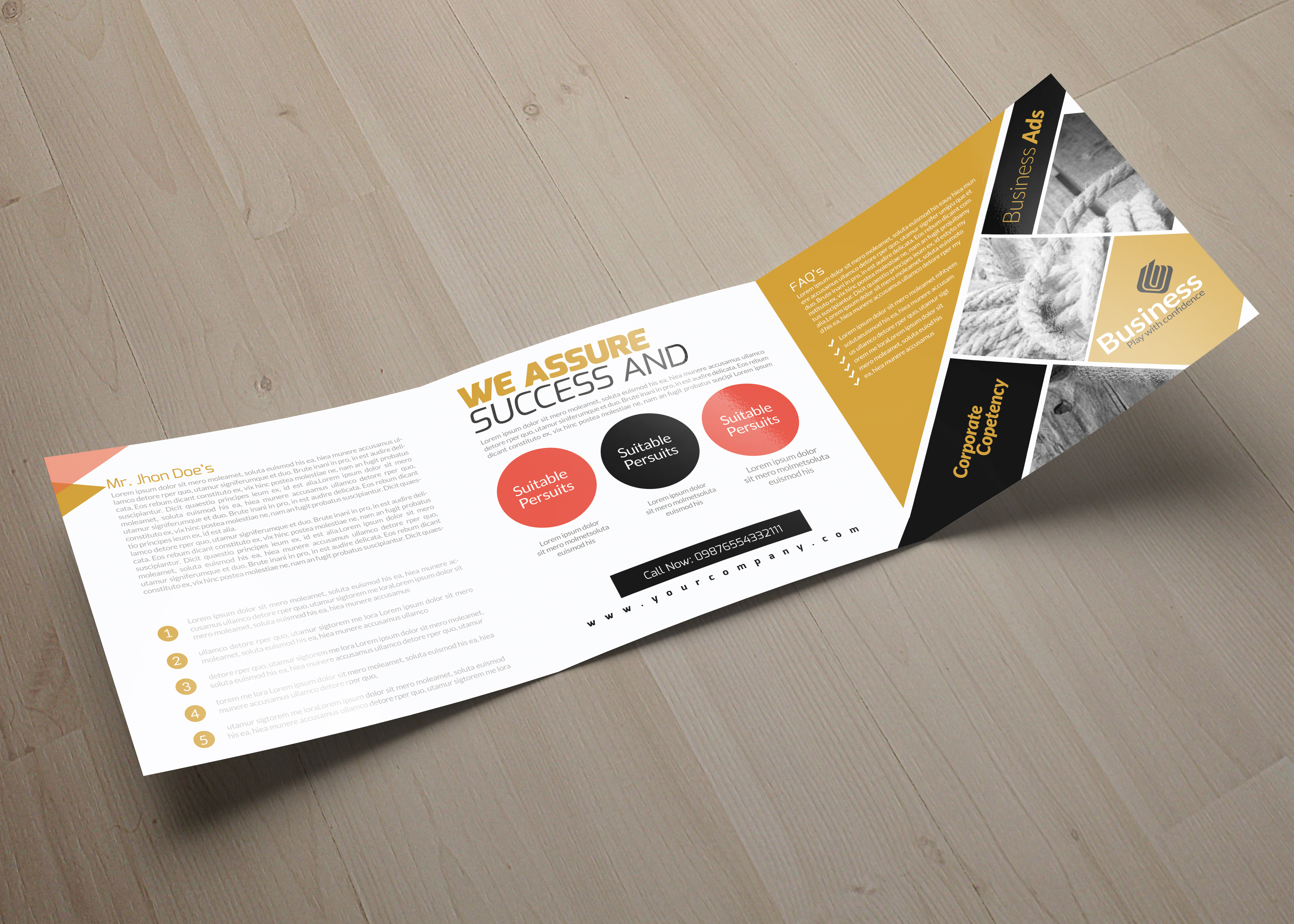 Business Square Trifold Brochure example image 6