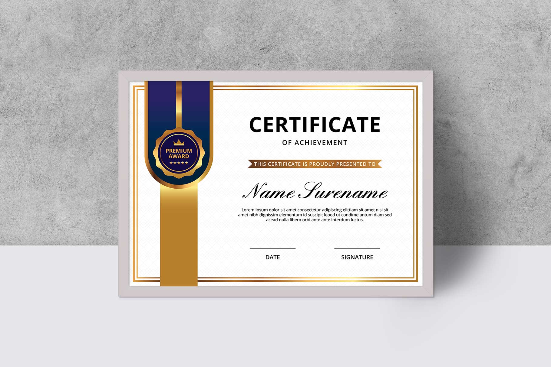 Certificate example image 1