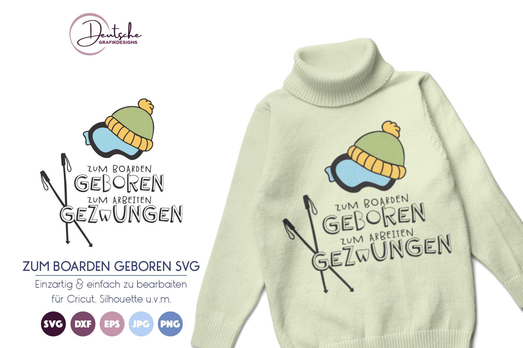 Zum boarden geboren | Snowboarder SVG example image 1
