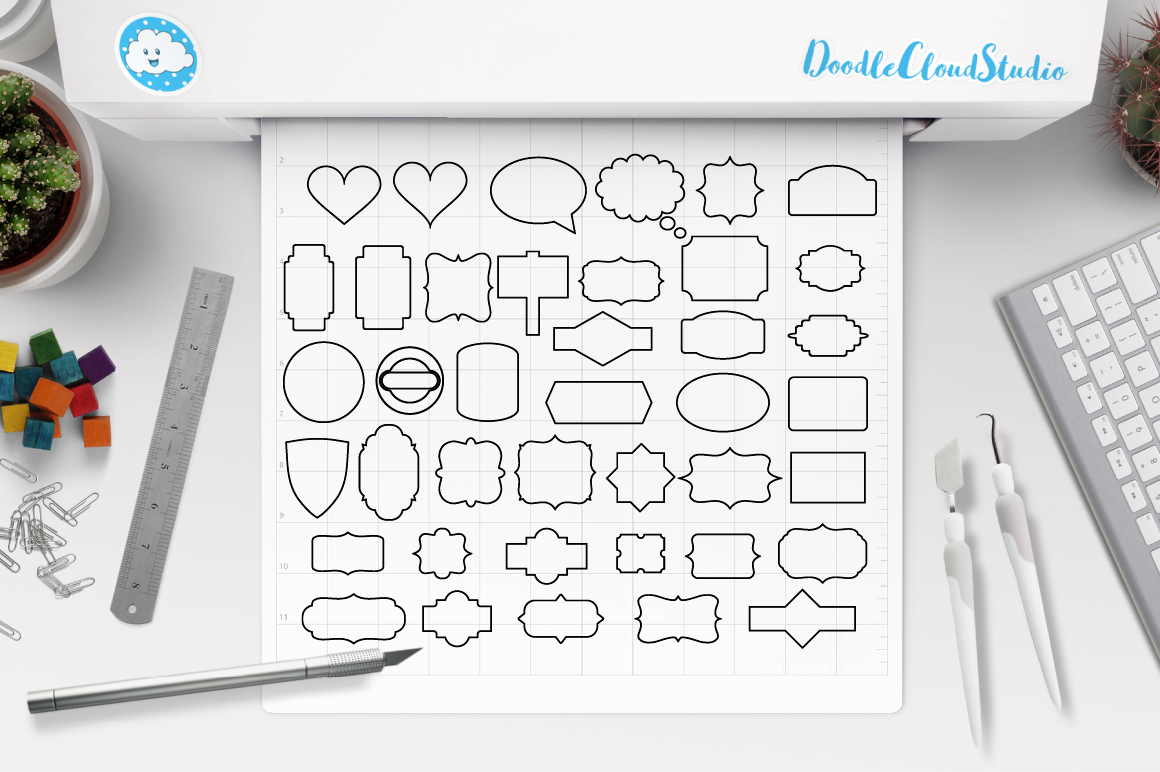 Ribbon Banner SVG, Label svg, Banner SVG files for Silhouette Cameo and Cricut. Label clipart png, Banner Clipart PNG included example image 2