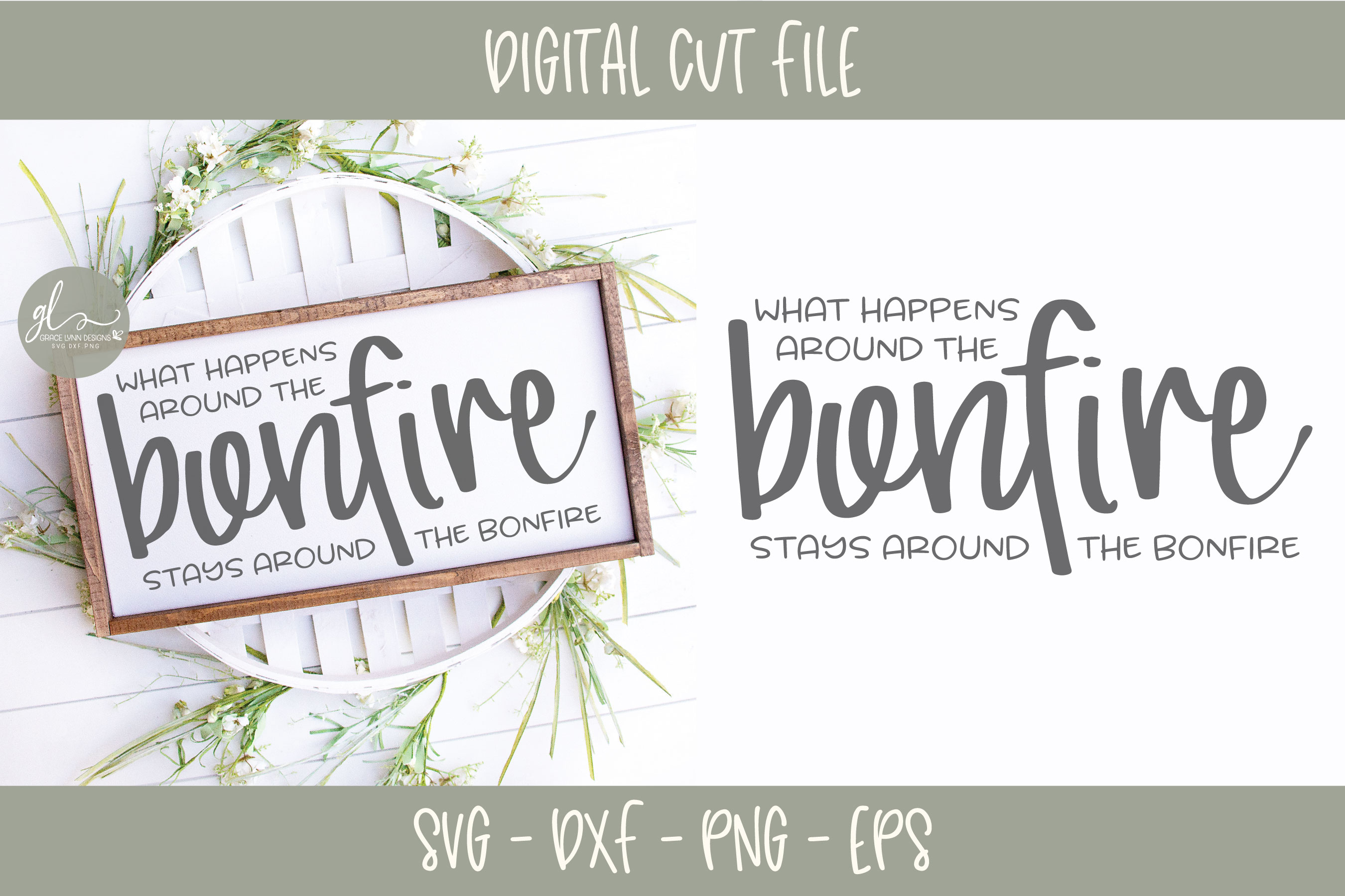 What Happens Around The Bonfire - SVG example image 1