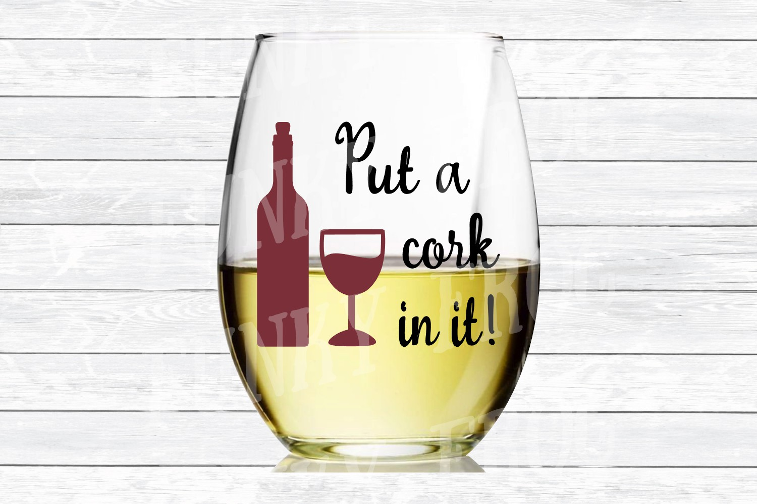 Put A Cork In It! - Wine SVG Cut File for example image 3