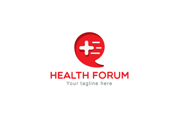 Health Forum - Call Out Iconic Symbol Stock Logo Template example image 1