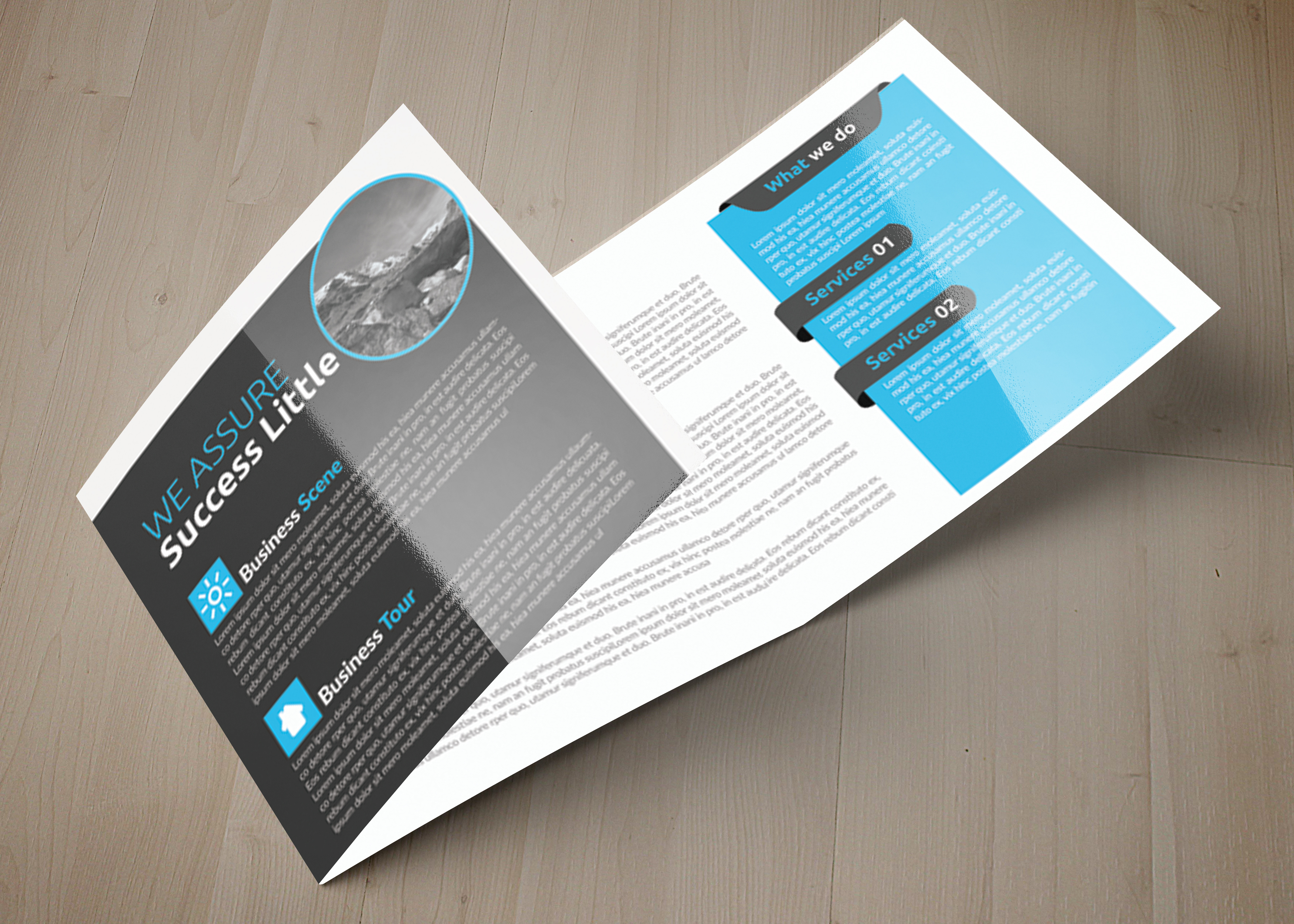 Multi Use Business Squre Trifold Brochure example image 6