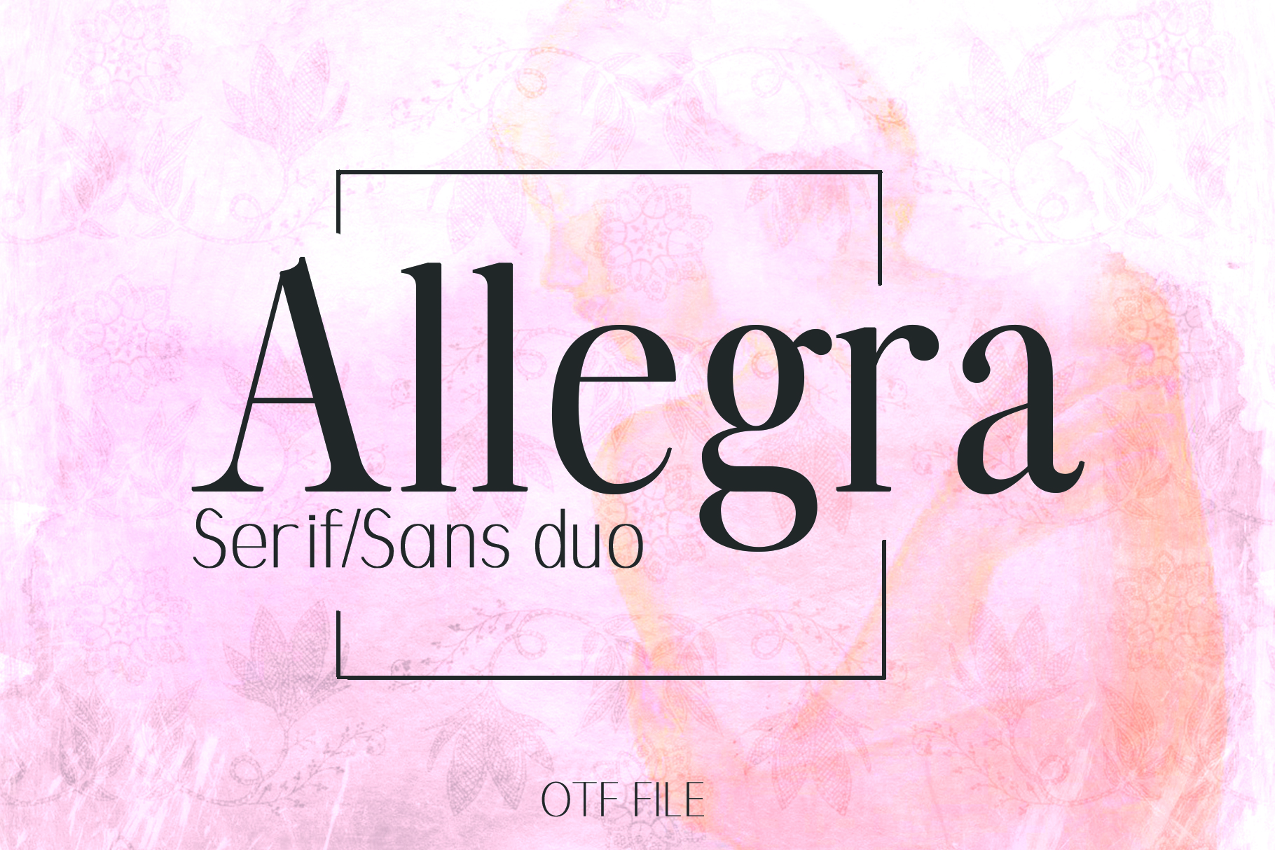 ALLEGRA, A Beautiful Font Duo example image 1