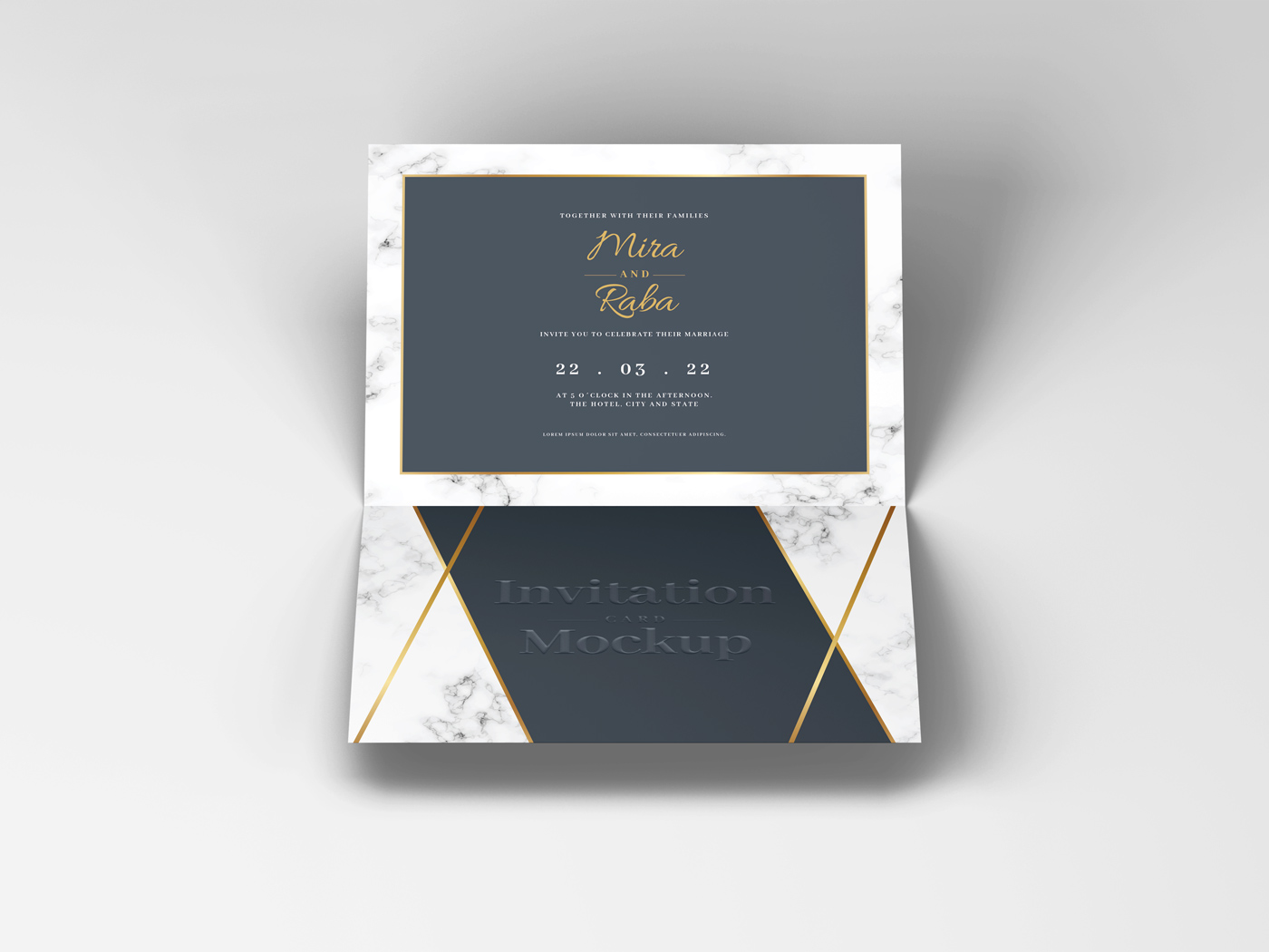 Invitation Card Mockups V1 example image 3