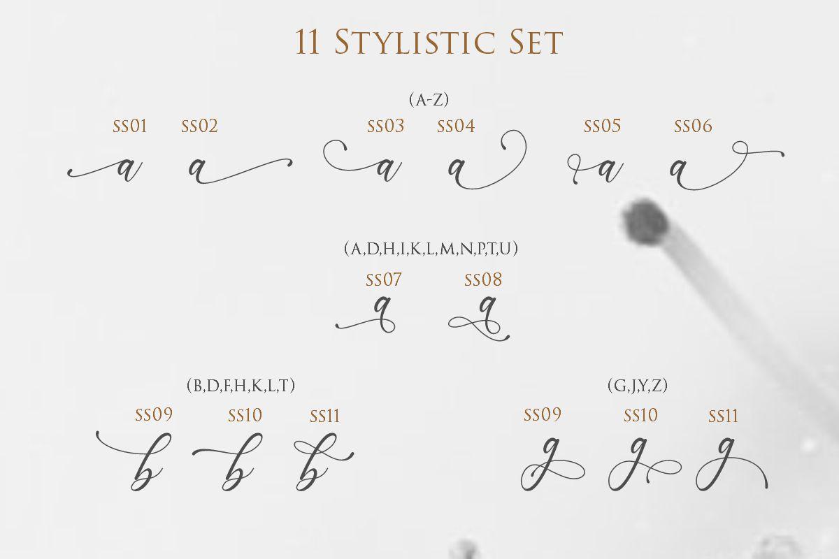 Lenttera | Beauty Style Calligraphy example image 4