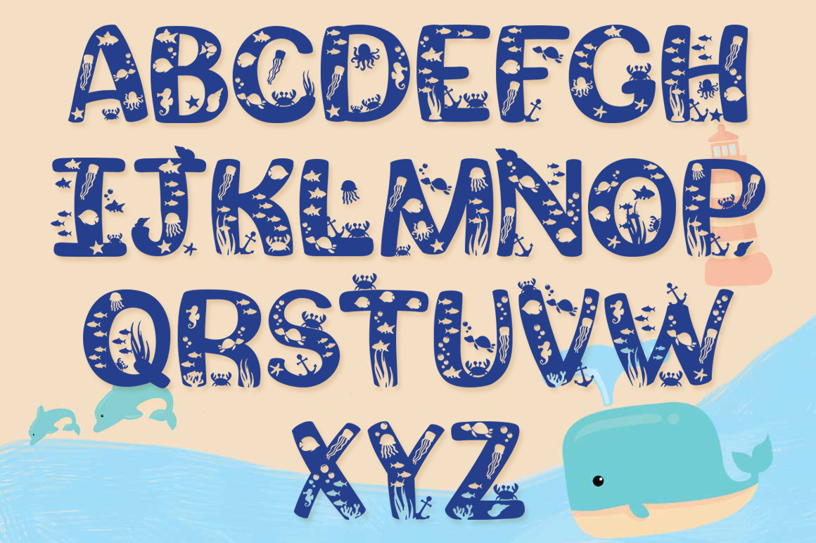 Squishy Craft Font for Beach & Summer Designs with Bonus example image 2