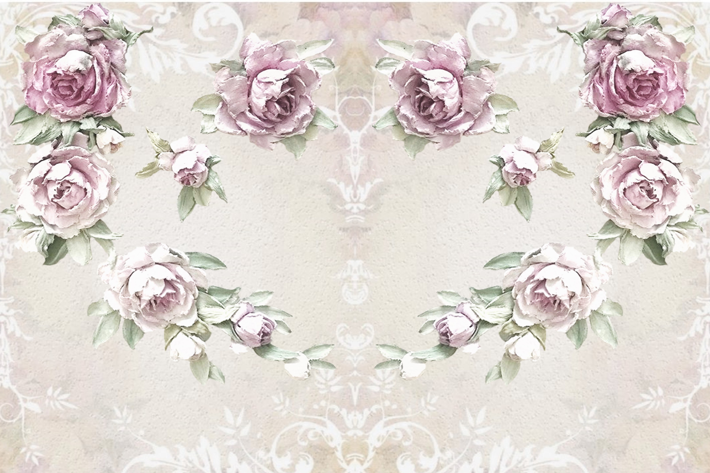 20 Journaling Background papers. Rustic Roses Commercial Use example image 5