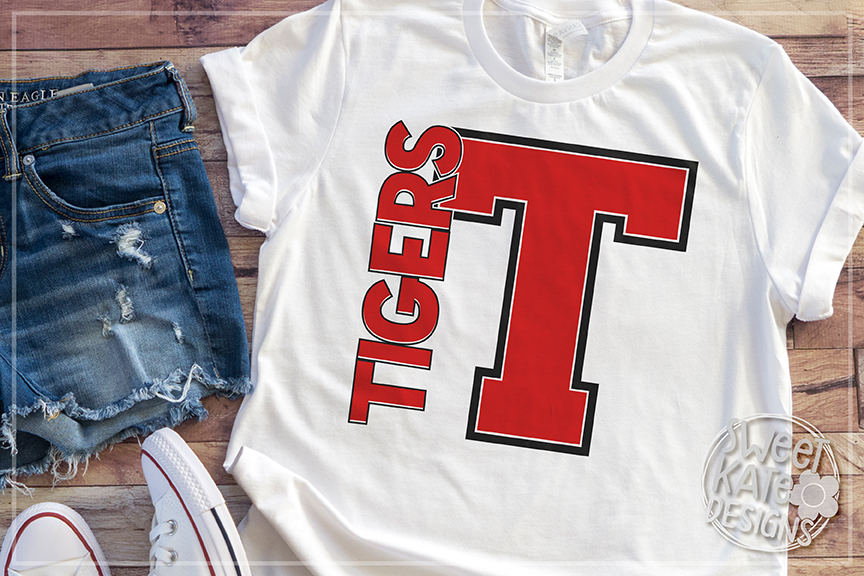 T Tigers SVG DXF EPS PNG JPG example image 3