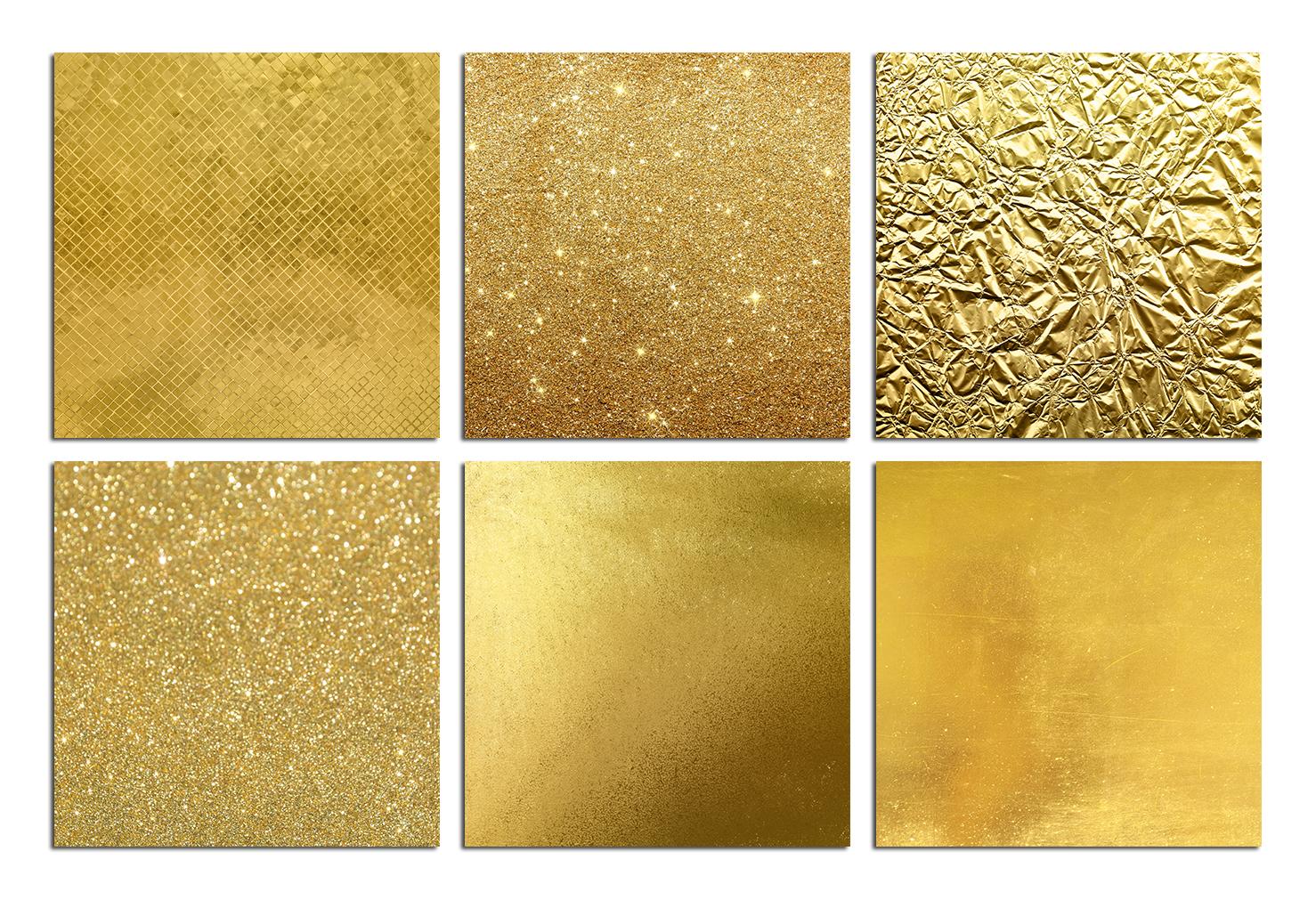 Gold Foil & Glitter Digital Paper example image 2
