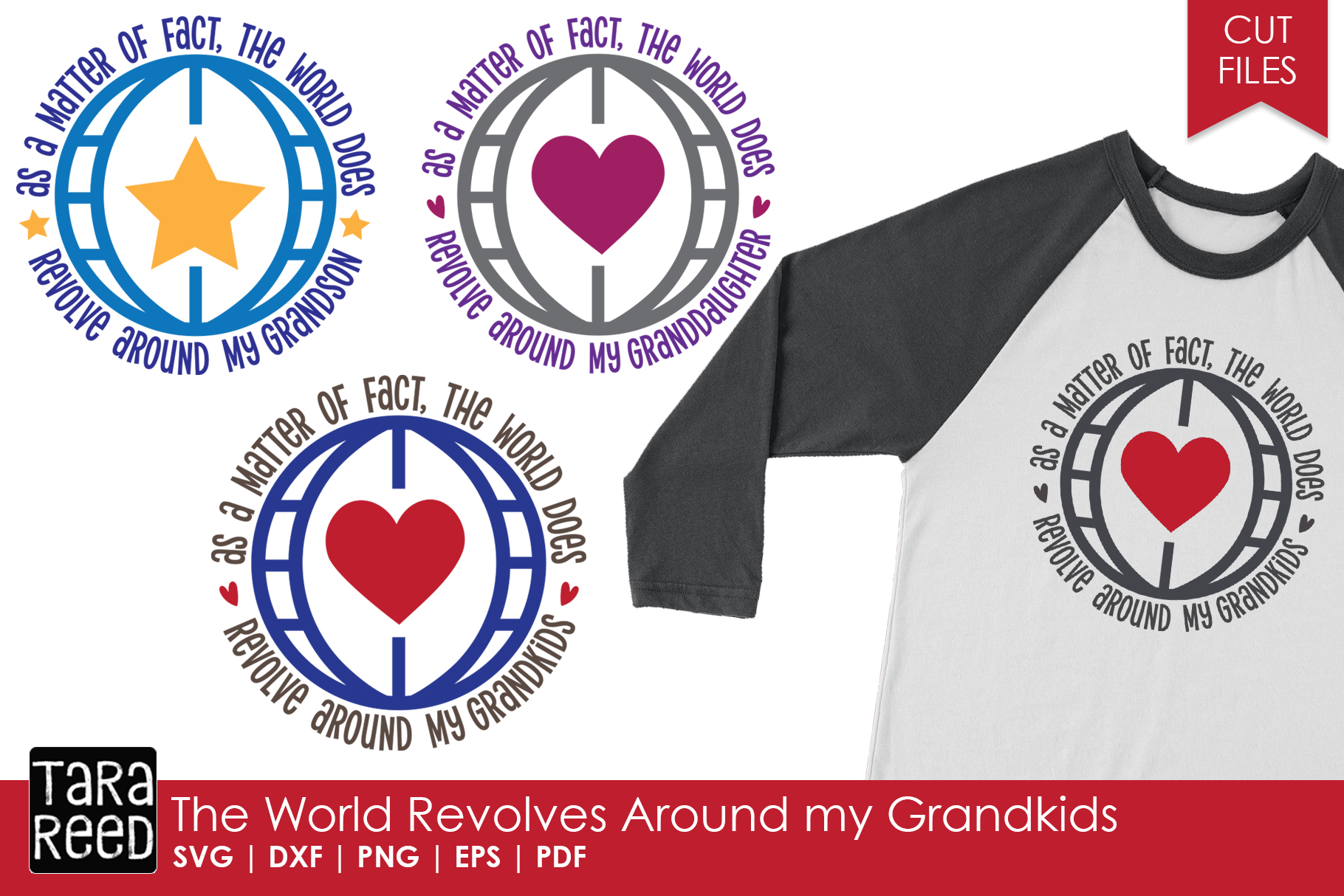 World Revolves Around My Grandkids - Grandparent Cut Files example image 1