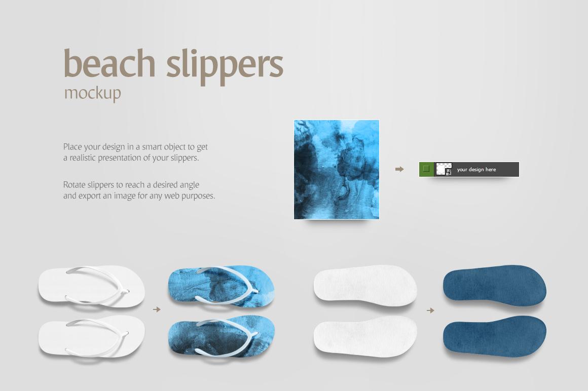 Beach Slippers Mockup example image 4