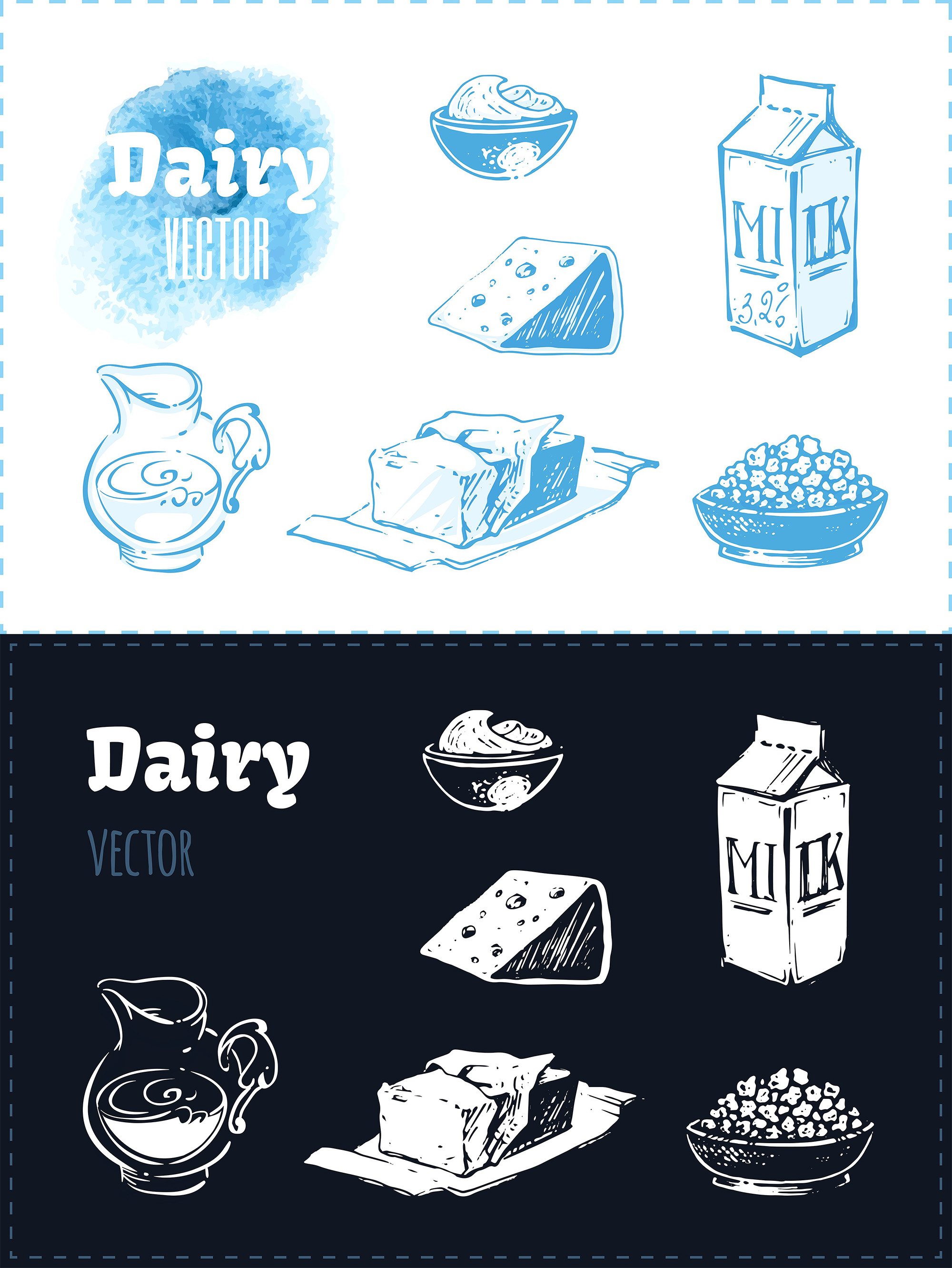 Hand drawn cooking and food icons example image 22