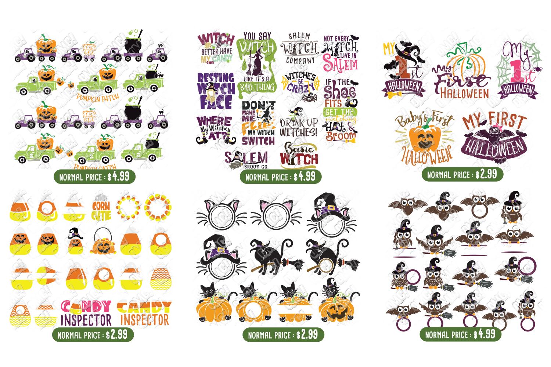 Ultimate Halloween SVG Bundle Vol. 1 & Vol. 2 in SVG & DXF example image 5