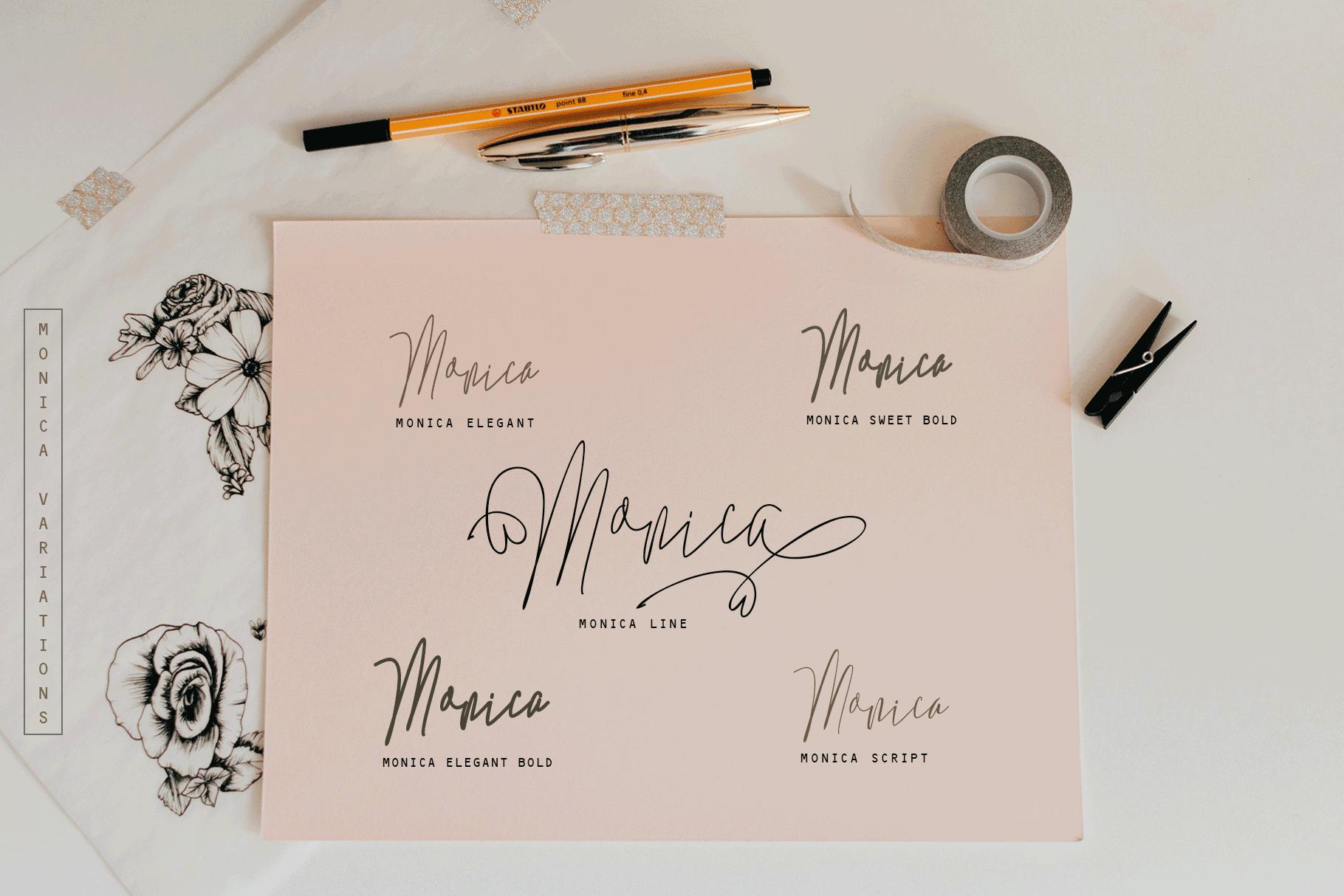 Monica -10 Elegant Font example image 2