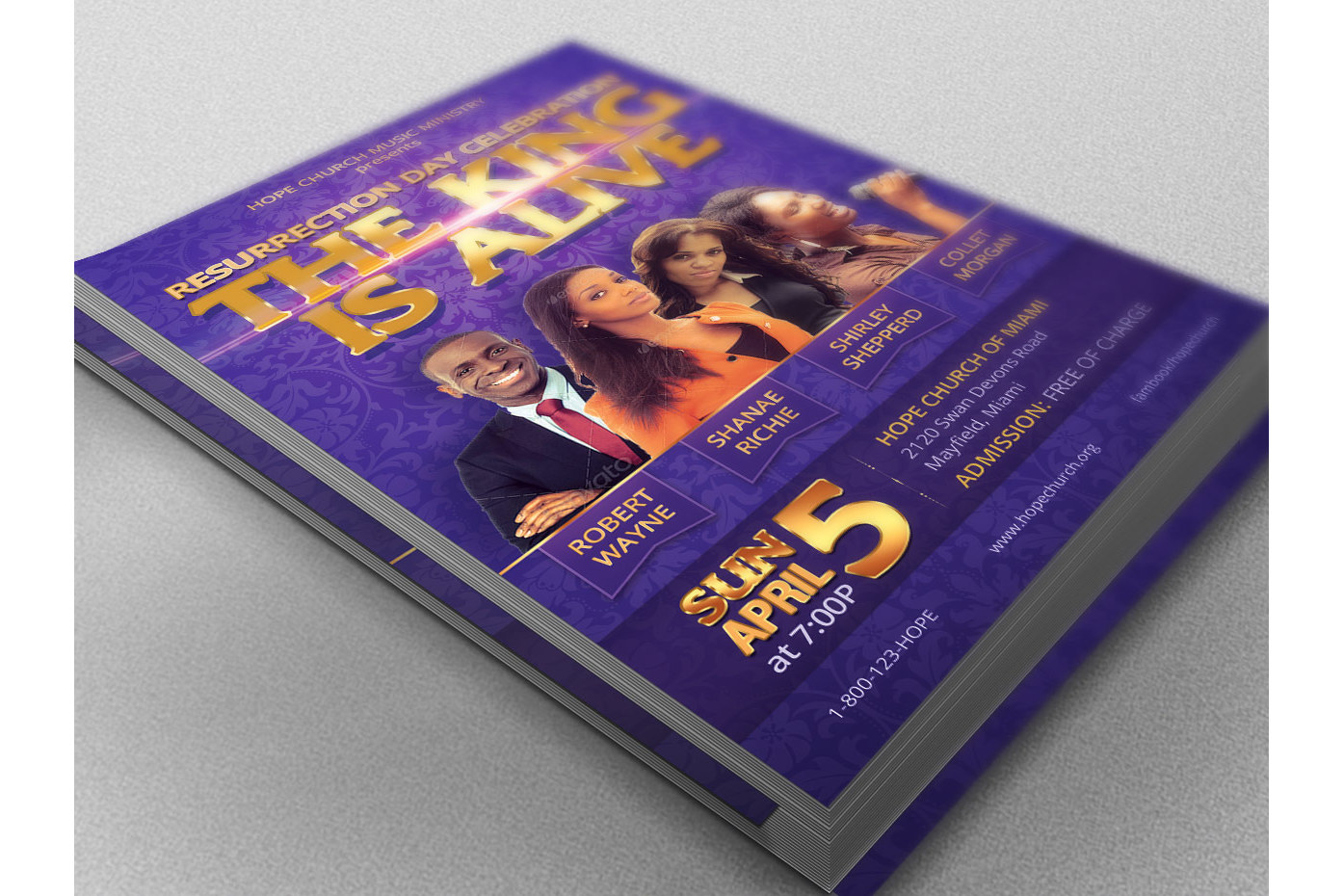 Resurrection Day Concert Flyer Poster Template example image 2