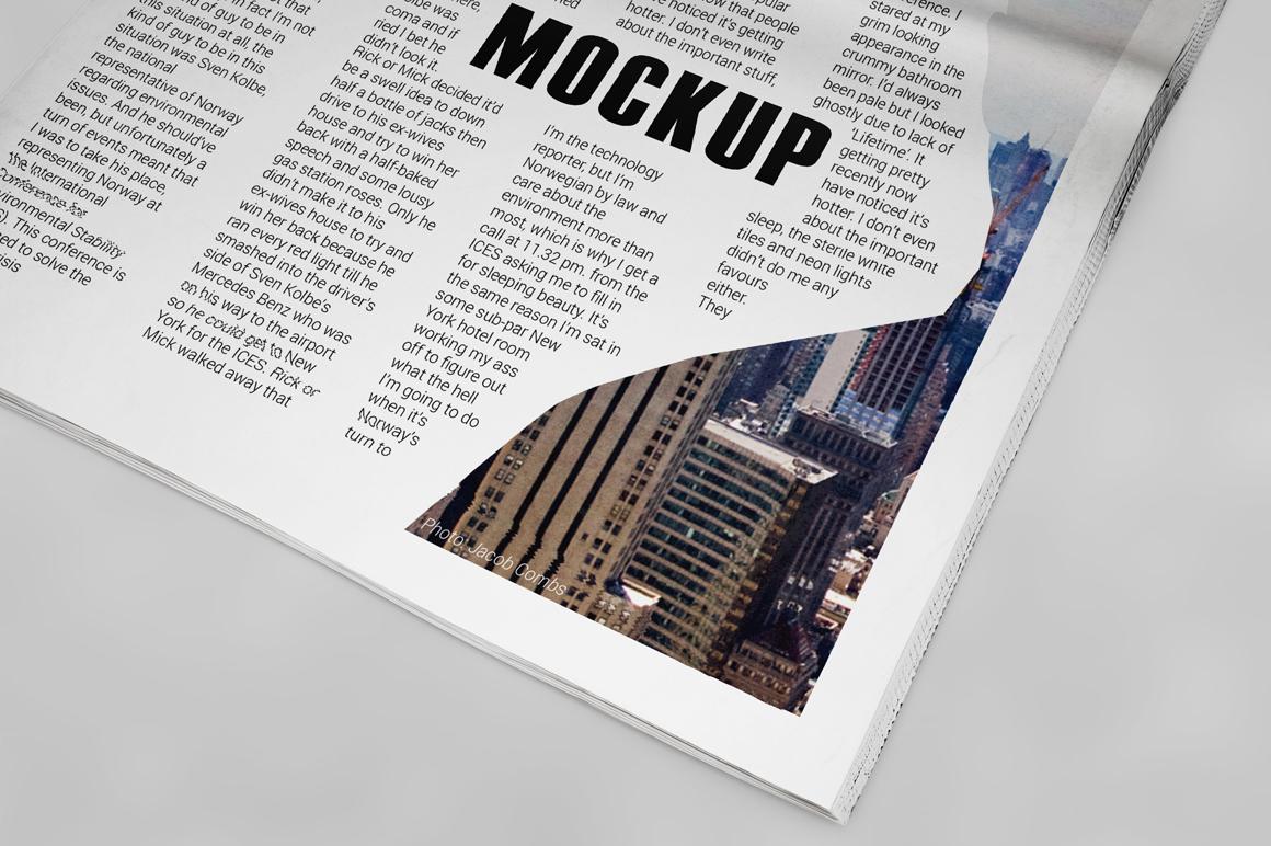 Newspaper Mockup example image 8