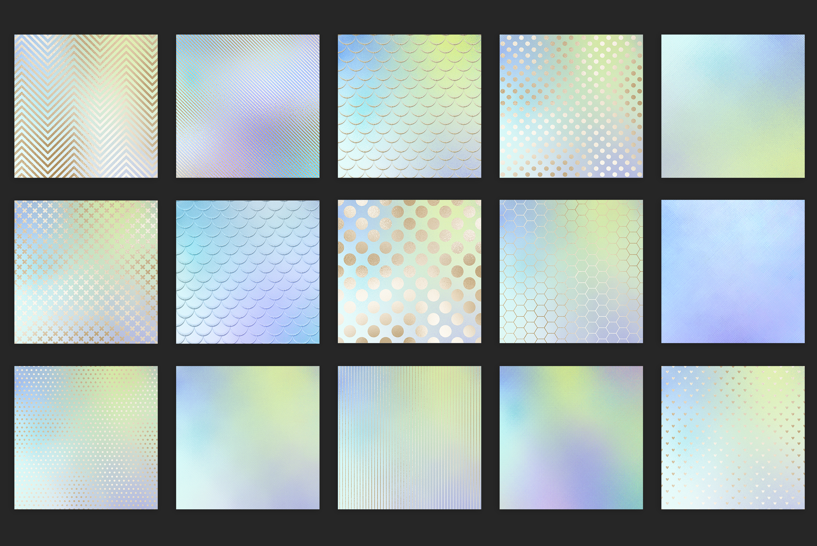 Iridescent Gold Marble & Black and Silver Marble Textures example image 12