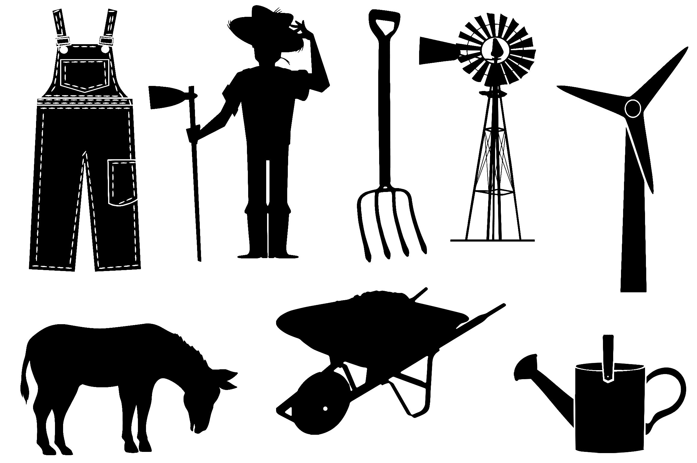 Farm & Animals Silhouettes AI EPS PNG example image 4