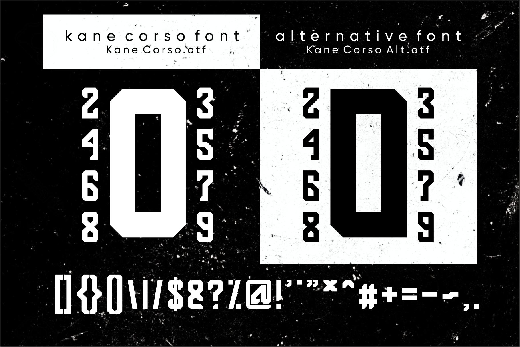 Kane Corso | Block Font example image 3