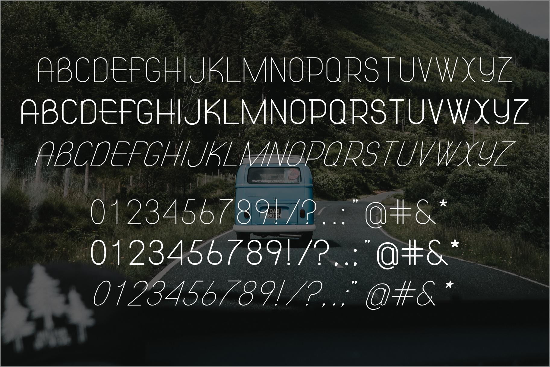 ATLAS clean modern sans typeface. example image 5