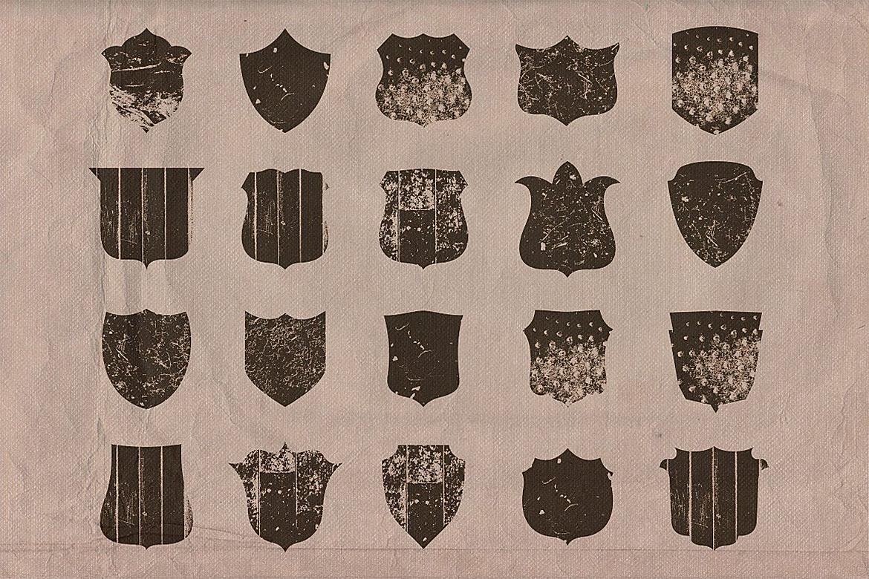 Retro/Vintage shapes - Shields 2 example image 4