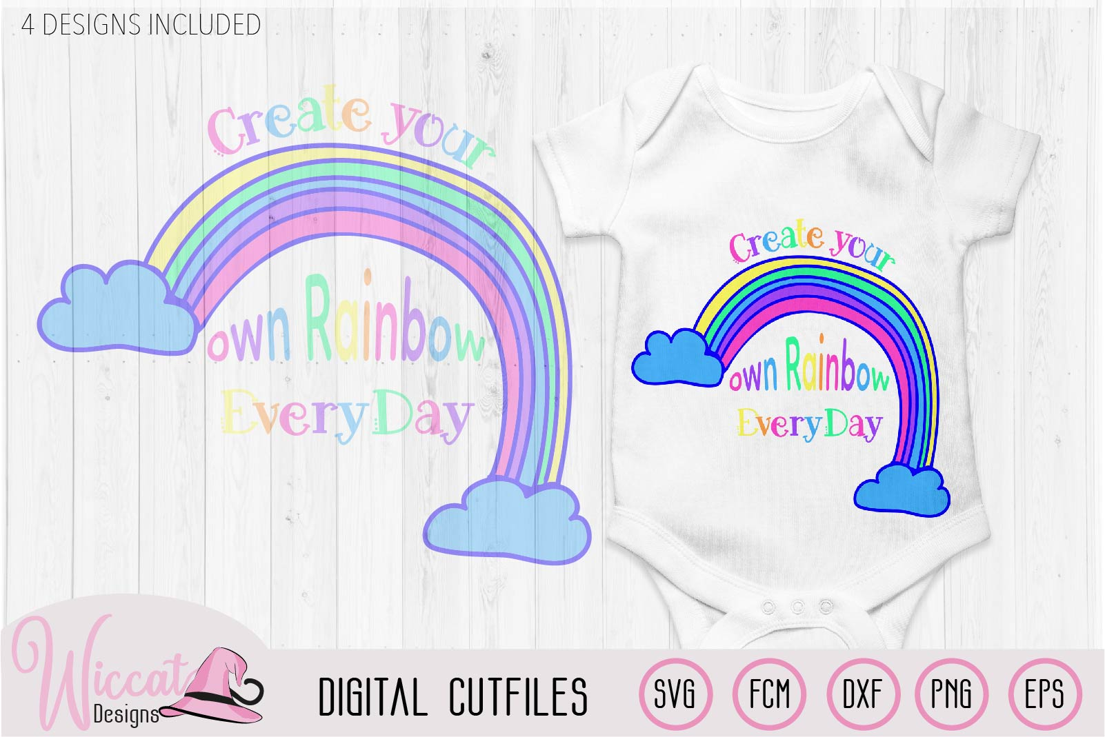 Make your own rainbow quote svg, kawaii rainbow, Kids design example image 3