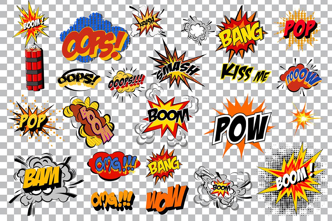 Comics pop art signs set_Vol.1 example image 3