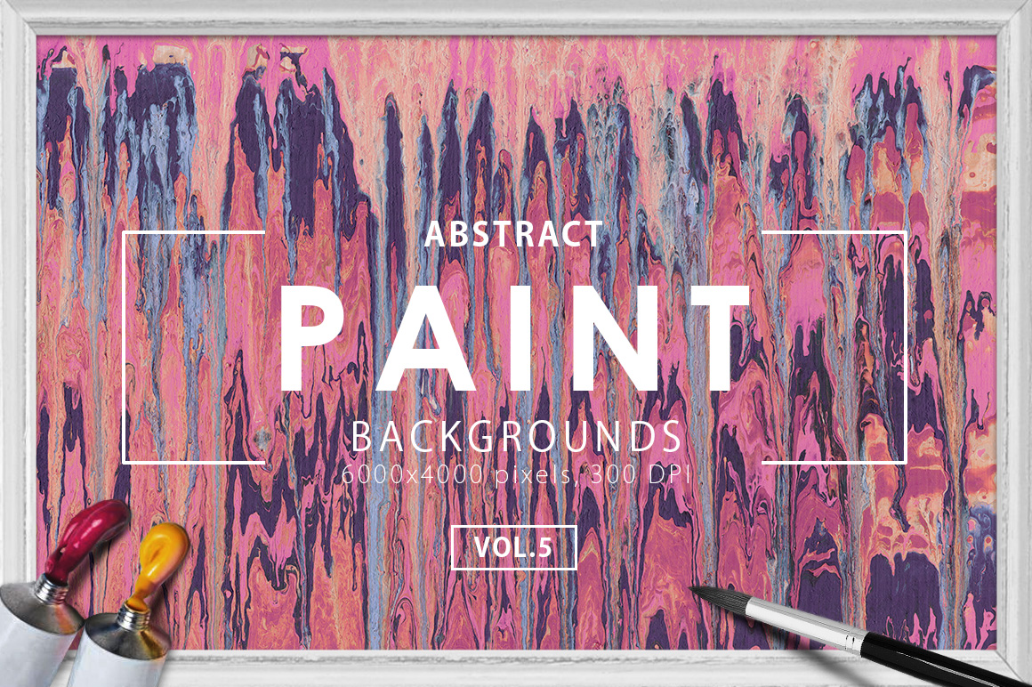 Abstract Paint Backgrounds Vol.5 example image 1