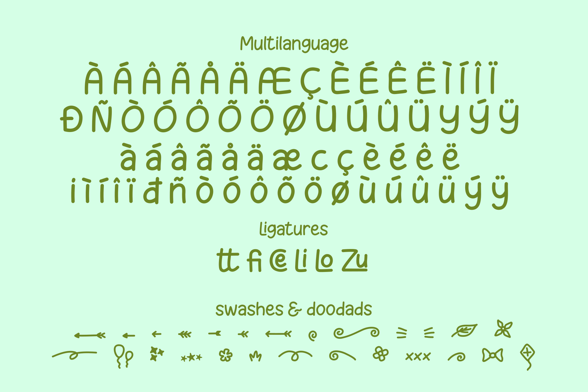 Melon Slices - a fun little font example image 7