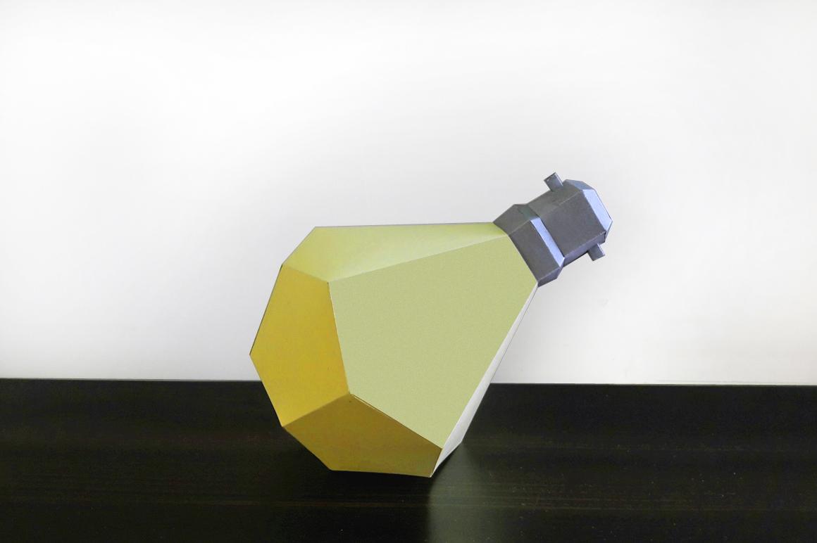 DIY Paper Bulb - 3d papercraft example image 2