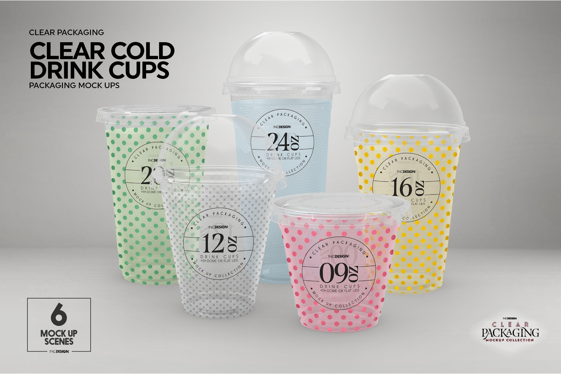 Clear Cold Drink Cups Packaging Mockup example image 3